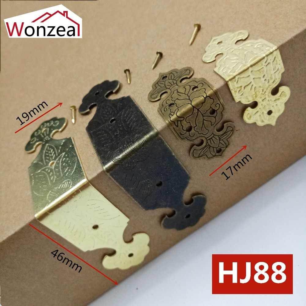 60pcs Antique Box Corner Protector Vintage Jewelry Wooden Box Decorative Protectors Case Feet Leg Furniture Hardware Accessories