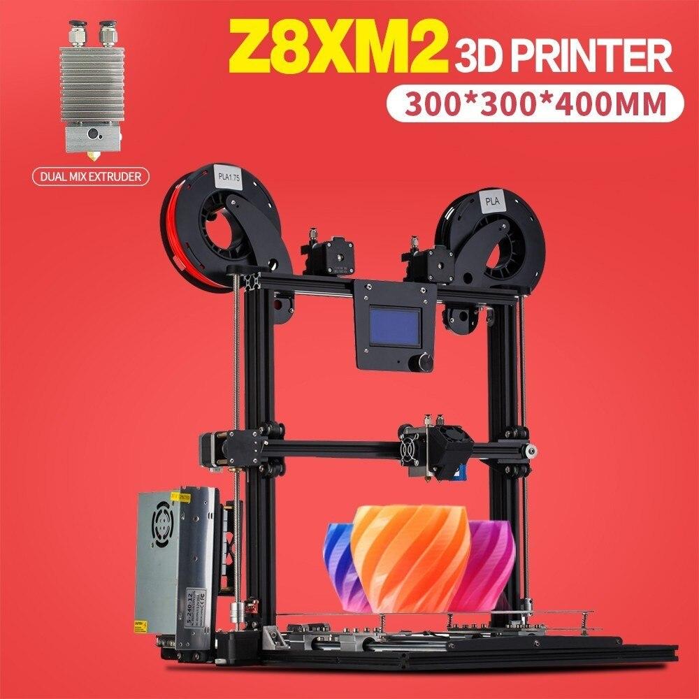 ZONESTAR Full Metal Aluminum Frame Big Size 300mm x 300mm Auto Level Laser Engraving Run out Decect 3d printer DIY kit