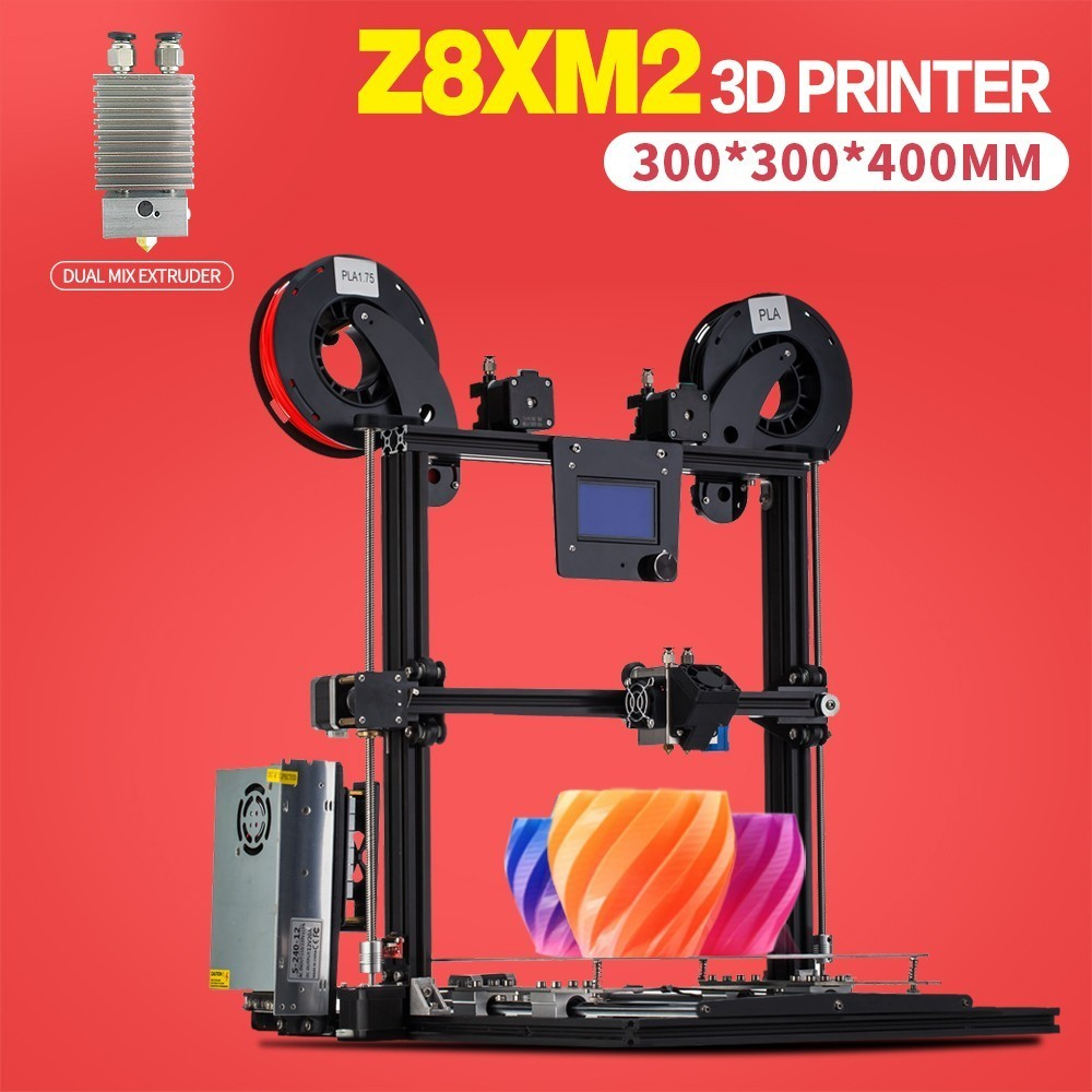 ZONESTAR Full Metal Frame De Alumínio Grande Tamanho 300mm x 300mm Nível de Auto Run out Decect de Gravação A Laser 3d kit DIY de impressora