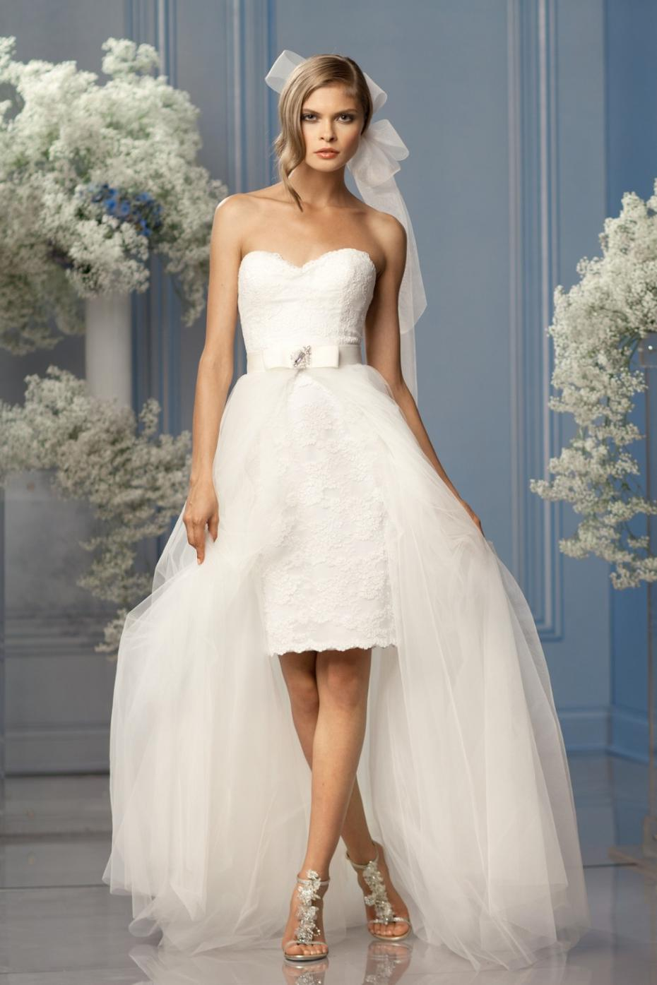 Sweetheart Liques A Line Lace High Low Wedding Dresses Removable Skirt 2 In 1 Gelinlik 2017 Vestido De Noiva Cetim Julie Vino From