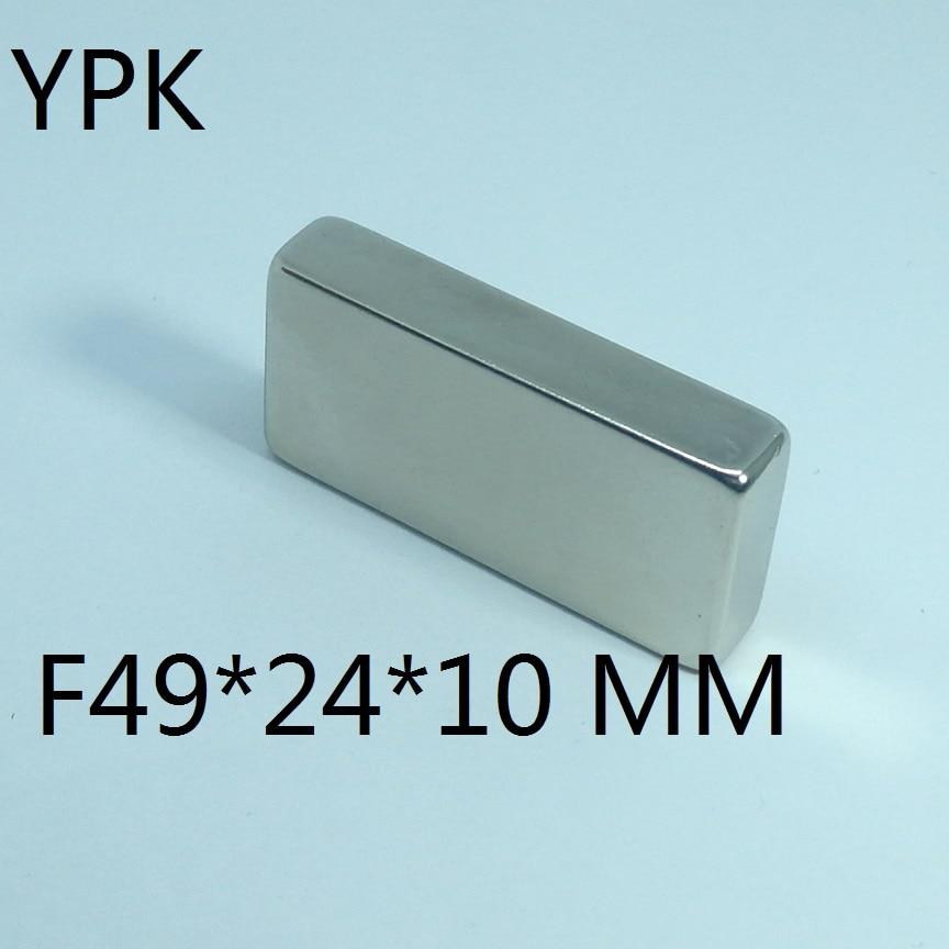 1pcs   N35 Rectangular magnet f 49mm x 24mm x 10mm Super Strong Neodymium magnet 49*24*10mm NdFeB magnet 49*24*10