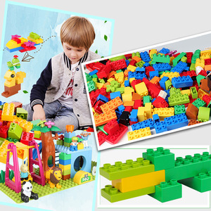 Image 4 - 72 260PCS Big Building Blocks 100% High quality Compatible Duploed Bulk Bricks DIY Figurine Accessories Baby Toys for Children