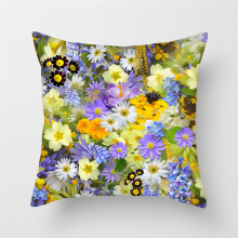 Fuwatacchi Wildflower Cushion Covers Plum Blossom Lavender Pillows Cover Home Decor Sofa Chair Floral Decorative Pillowcases fuwatacchi floral cushion cover feather leaves gold pillow cover for decor sofa chair square decorative pillowcases