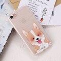 Case para iphone 6 7 plus 5 5S kisscase se adorável animal cat e cão ultra fino de silicone macio capa para samsung galaxy s6 s7 edge