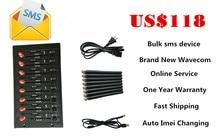 Bulk sms GSM GPRS Modem Pool 8 Ports USB interface Wavecom Module AT Commands Q2406