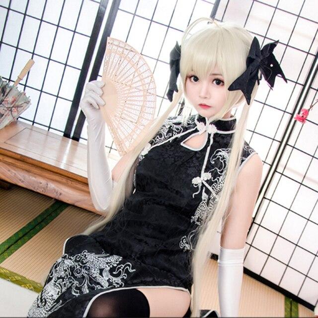 Cosplay Anime Cheongsam Dress For Girl Women Qipao Edge Of The Empty