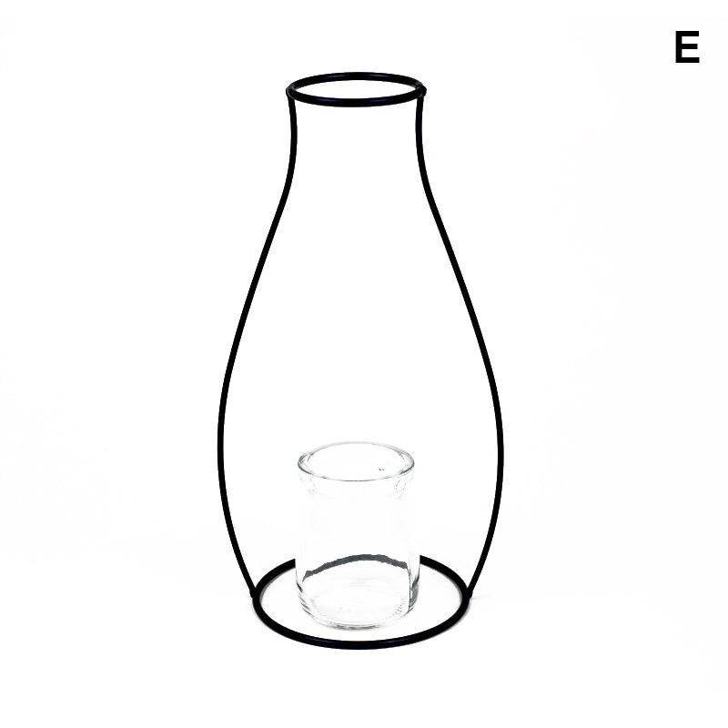 1 Pcs Metall Eisen Diy Vase Rahmen Schwarz Geometrische Rahmen Künstlichen Blume Vase Heißer Verkauf AusgewäHltes Material
