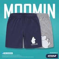 Moomin chegada nova verão infantis menino Caráter Ativo meninos calções Meados de cintura Com Cordão Solto de algodão crianças shorts meninos
