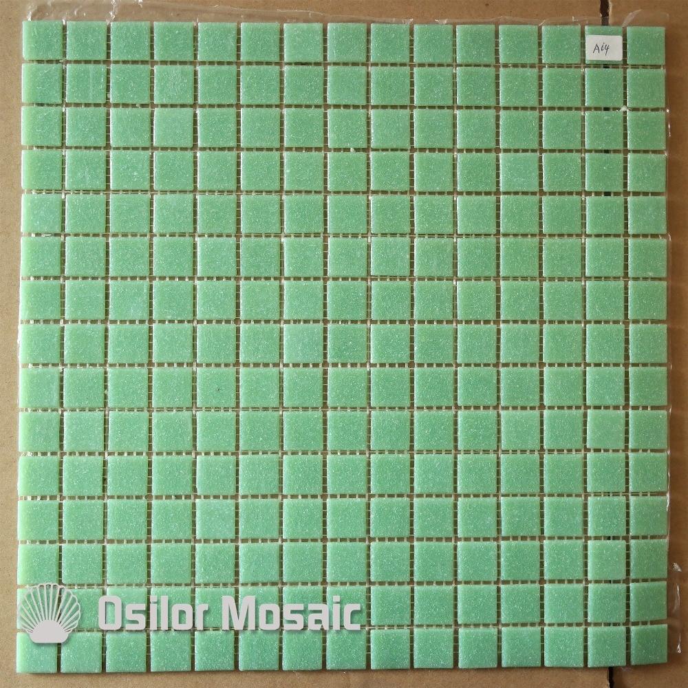 Piastrelle A Mosaico Per Bagno us $300.0  trasporto libero verde chiaro piastrelle di vetro mosaico per  bagno e cucina piastrella pavimento di piastrelle decorazione della parete