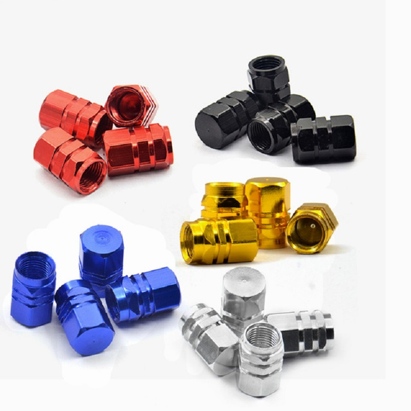 4 pc Aluminum Car Truck Bike Motorcycle Tyre Tire Valve Core Caps Wheel Valve Stem Cap Dust Cover Air Caps Airtight Cover in Valve Stems Caps from Automobiles Motorcycles