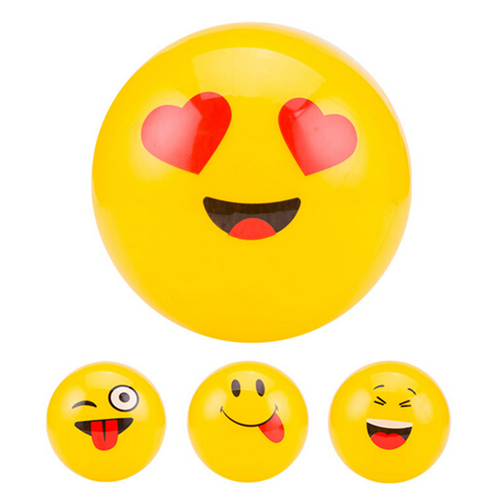 1Pcs New Emoji Balloons Smile Beach Ball Toy Face Expression Yellow Latex Balloons Wedding Ballon Cartoon Inflatable Balls