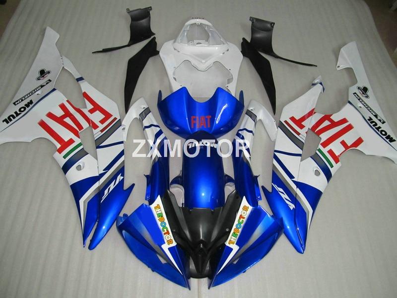 Injection 100% fit for Yamaha YZFR6 2008-2015 white blue bodywork fairing kit YZF R6 08 09 10 11 12 13 14 15 YT19