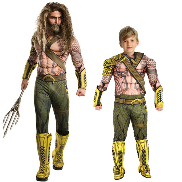 Halloween Verkleedkleding Kind.Us 15 85 59 Off Kids Aquaman Costumes Boy Muscle Halloween Costumes For Kids Cosplay Verkleedkleding Kinderen Superhero Costumes Party Dress Up In