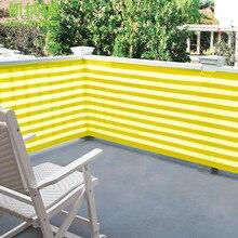 Customized 0.9 x 4.9 M HDPE Sun Shade Sail Net with Straight edge Alu eyelet Balcony Fence Net with Rope for balcony