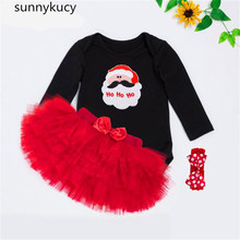 Get more info on the 0-2 years old new children's clothing female baby Santa high quality cotton fashion long sleeves robe six-layer dress suit