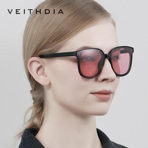 Image 4 - Veithdia Brand Fashion Zonnebril Gepolariseerde Meekleurende Lens Vintage UV400 Zonnebril Voor Mannen/Vrouwen Oculos De Sol V8510