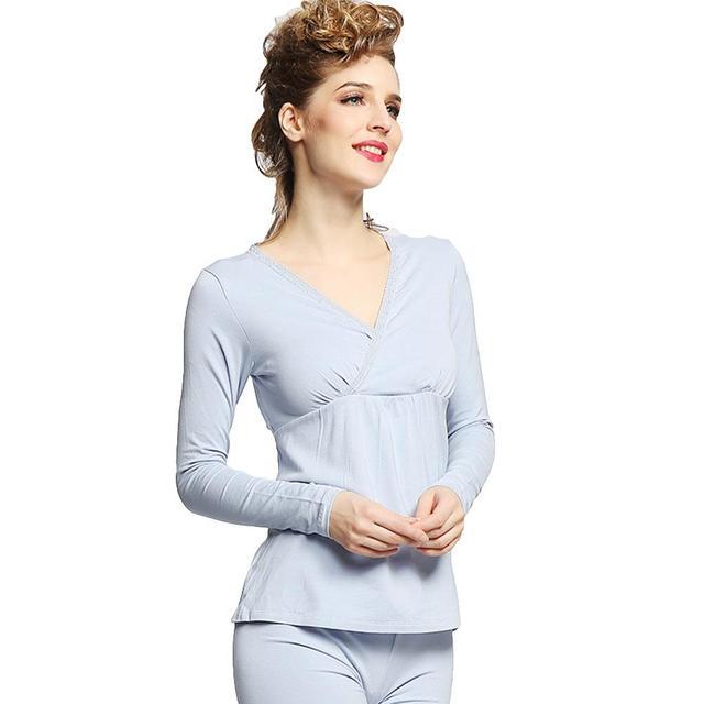 e92d8412522 Women's Long Sleeve Easy Breastfeeding Top + Pants Maternity Nursing Pajama  Set new
