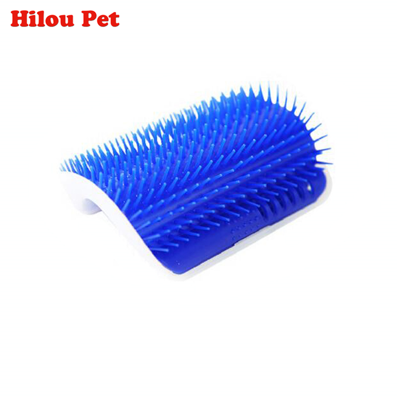 Pet Cat Brush Comb Play Toy Plastic Scratch Bristles Arch Self-Groomer Massager Scratcher With Catnip Nailed to Wall
