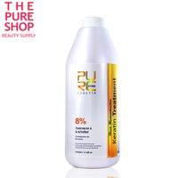 Brazilian hair keratin treatment 8% chocolate hair straightener 1000ml for hair mask and hair care keratin treatment