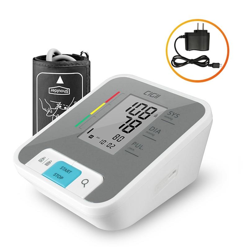 Cigii Home health care Pulse measurement tool Portable LCD digital Upper Arm Blood Pressure Monitor 1 Pcs cigii upper arm blood pressure pulse monitor lcd portable home health care 1pcs digital tonometer meter pulse oximeter