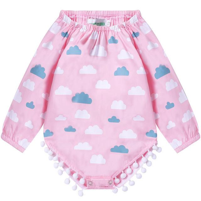 Tecido bodysuit baby girl clothing nuvens bodysuits roupas para bebês recém-nascidos de algodão infantil de manga comprida 2017 primavera traje