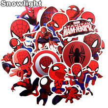 35 pçs/lote Spiderman Legal MARVEL Super Hero Adesivos Para Laptop de Brinquedo Moto Decalque Guitarra Skate Bagagem Adesivos(China)