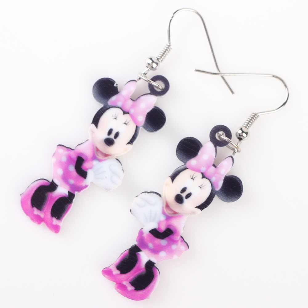 Newei Long Drop Brand Cute Pink Mouse Earrings Acrylic Cartoon Hot  Vintage Animal Jewelry Novelty Girls Women Accessories