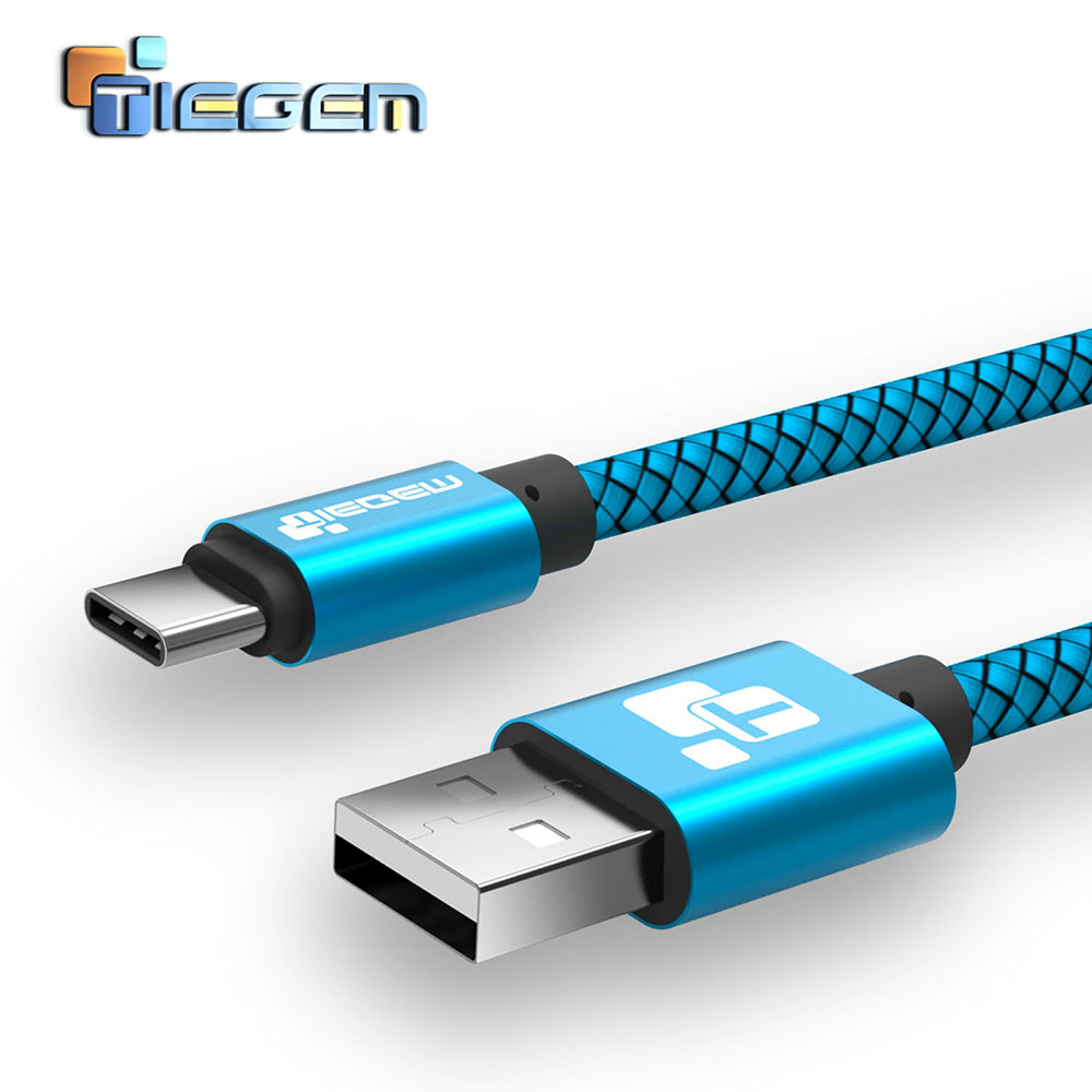 TIEGEM USB C Cable for Samsung GALAXY S8 C7 C9 Data Sync Fast Charging USB type C Cable for Huawei Mate 9 P9 P10 for Xiaomi 5 6