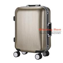 22 INCH 20222529 # Men and women are simple solid luggage trolley wheel slip all-match high-grade travel box #EC FREE SHIPPING