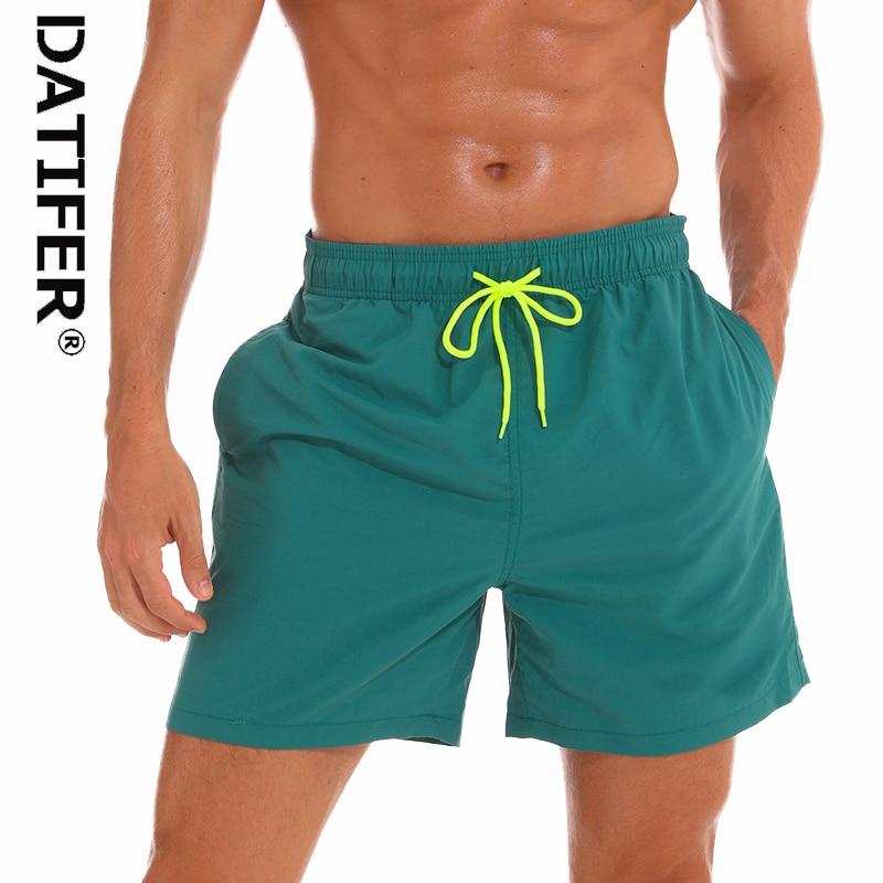 Datifer Brand Men Swimsuit   Board     Shorts   2019 Swimming Trunks Running Beach Surfing Boardshort   Shorts   Plus Size Bermudas ES5S