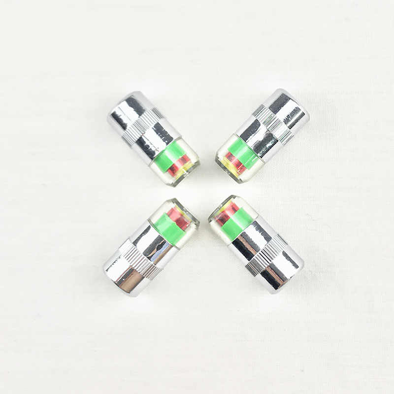 4PCS רכב אוטומטי צמיגי לחץ צג צמיג gage התראת חיישן מחוון valve caps עבור יונדאי סונטה, ורנה, solaris