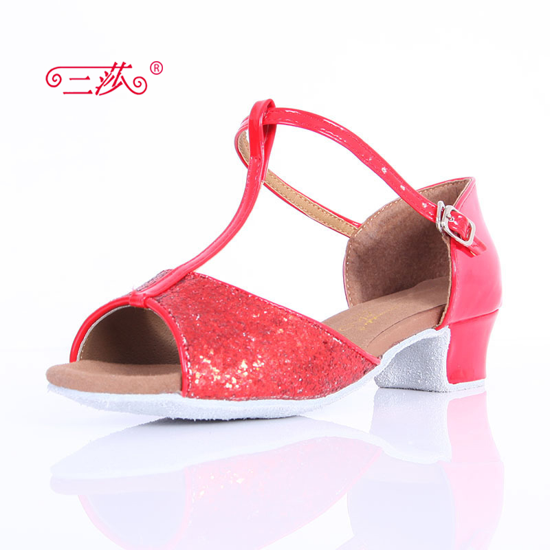 Sasha direct selling professional High Quality Children Latin Dance font b Shoes b font Economic font