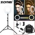 Zomei 14-дюймовый светодиодный кольцевой светильник для селфи с штативом для фотосъемки 3200-5600K макияж для женщин прямая трансляция