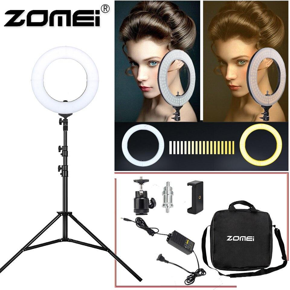 Zomei 14 Dimmable Photographie Éclairage Annulaire à LED Selfie Trépied Photographique 3200-5600 k caméra photo vidéo maquillage pour vivre diffusion