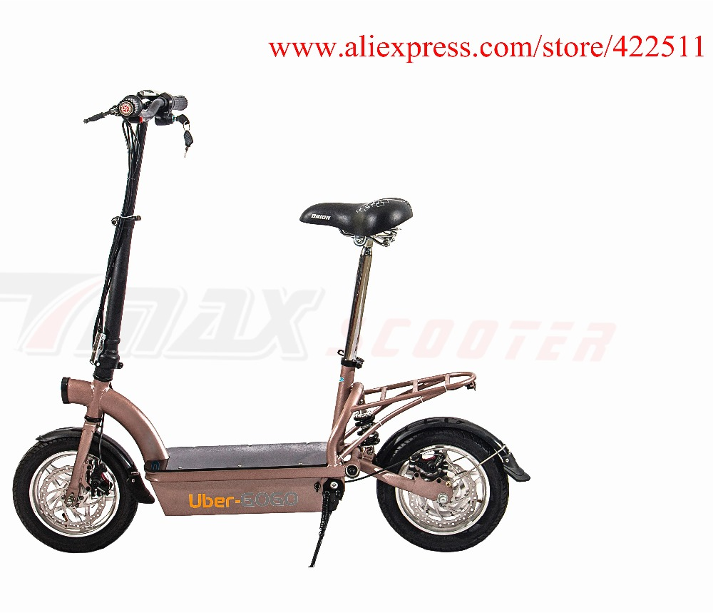 2016 New 300W 36V Hub-motor Electric Scooter/Bike 12AH Lead Acid Battery 2 Wheel Electric Scooter with Seat 2017 new 4 wheels electric skateboard scooter 600w with bluetooth remote controller replaceable dual hub motor 30km h for adults