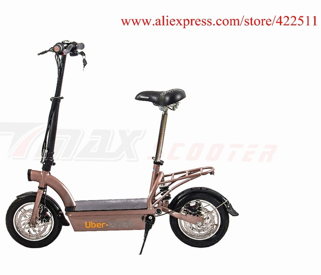 2016 New 300w 36v Hub Motor Electric Scooter Bike 12ah Lead Acid Battery 2 Wheel With Seat