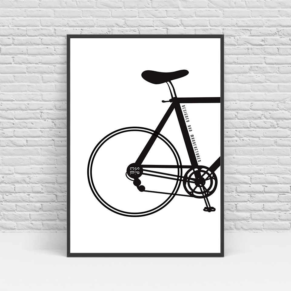 الحديث الاسكندنافية دراجة canvas art print poster جدار صور للمنزل الديكور اللوحة بدون إطار