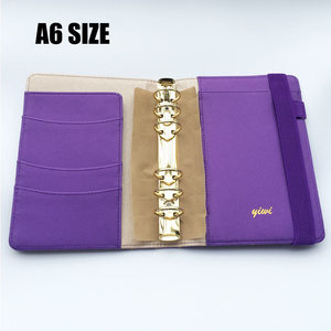 Image 3 - YIWI New A5 A6 A7 Purple Color Gold Ring Planners Agenda Notebooks Journal Kawaii DIY Stationery Wholesale Dokibook Abook