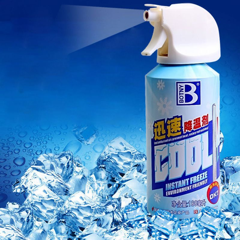 Air Freshener Spray Car Rapid Cooling Agent Refrigerant Summer Quickly Cooling Agent Vehicle Ice Spray