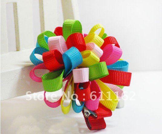 Детская заколка для волос в форме цветка loopy мяч цвет смешанные петли мяч для девочек детские волосы 10 шт. 0000