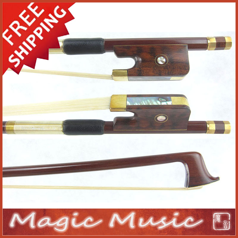 Free shipping Gold Alloy Fitted PERNAMBUCO Viola Bow with Snakewood Frogs Good Balanced Quick Response