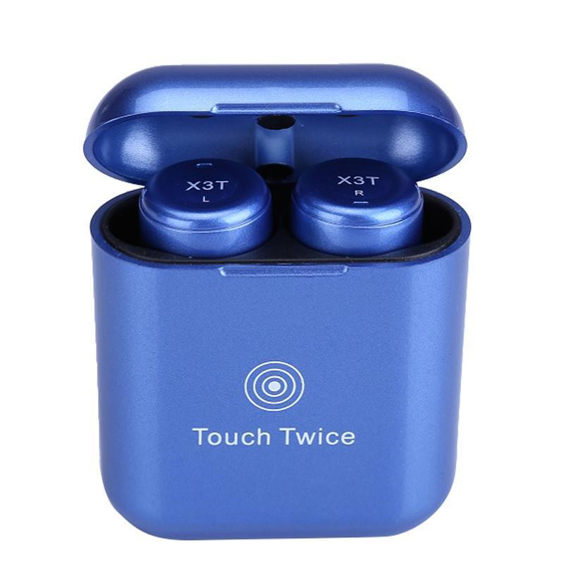 TWS X3T Wireless Bluetooth 4 2 Headset Earphone wtih Charger Box Bass X1t X2T Upgraded for
