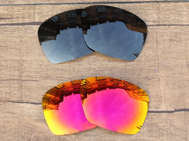f47ab9f4ef9c Black Grey   Fire Red 2 Pairs Polarized Replacement Lenses For Plaintiff  Squared Sunglasses Frame 100% UVA   UVB Protection