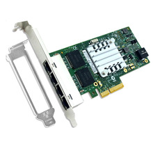I350AM4 Чипсета PCIe x4 4-портовый Gigabit Ethernet Сетевой Карты 1000 Мбит для Сервера