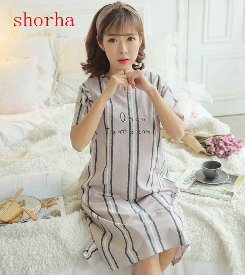 27322b03f0c4d Cotton Maternity Sleepwear dresses for pregnant Women Pajamas Nursing Wear  Clothing Breast Feeding Nursing Nightgown