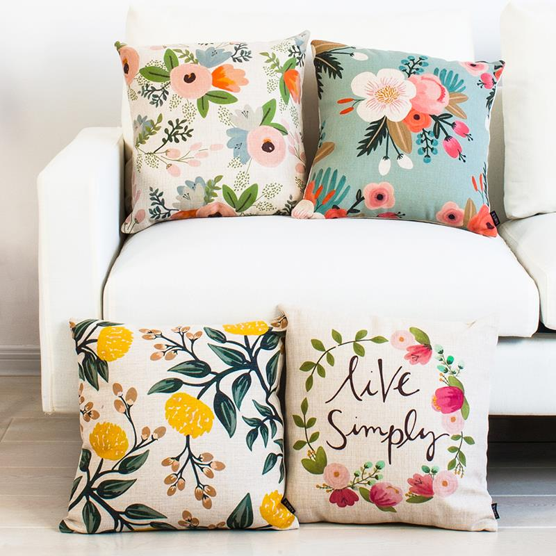 Home Decor Cushions stylish flower embroidered pillow for home decor 18 inch cushions Aliexpresscom Buy Custom Made Creative And Cozy Chair Cushion Art Flowers Cushions Home Decor Rural Countryside Style Sofa Cushions From Reliable Sofa