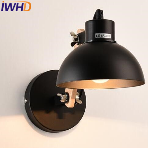 IWHD Adjustable Arm LED Wall Light Vintage Industrial Lighting Wall Lamp Style Loft Retro Iron Sconce Luminaire On The Wall