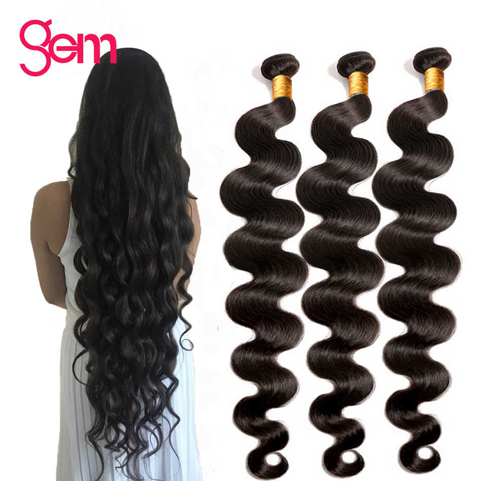 30 дюймов перуанские человеческие волосы пучки волос длиной 30 40 дюймов пучки волос драгоценный камень Реми человеческие волосы 1/3/4 шт. пряди для наращивания волос