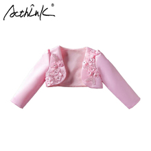 ActhInK New Girls Floral Wedding Bolero Brand 5 Colors Children Formal Dress Cape Baby