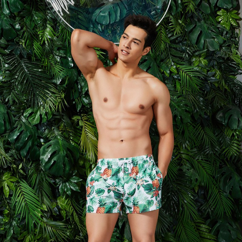 Beach Shorts Swiming Shorts Men Summer Sports Beach Modis Pants Trend Bohemian Swimshorts Men Print Drawstring